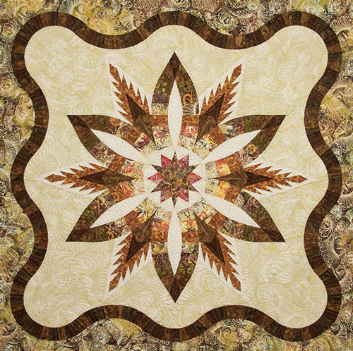 autumn pines quilted pattern the noble quilter