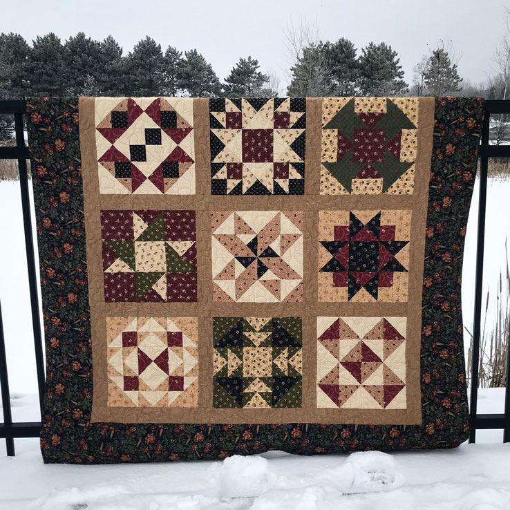 Sample of Margie's Magnificent Beginner's Quilt