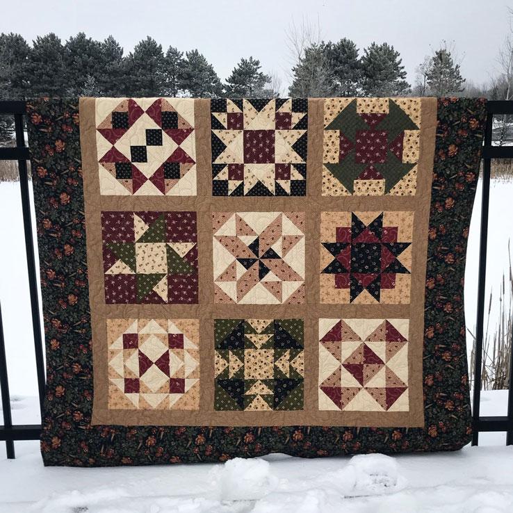 Sample of Margie's Magnificent Beginner's Quilt