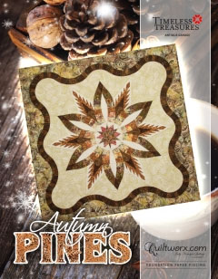autumn pines quilted pattern